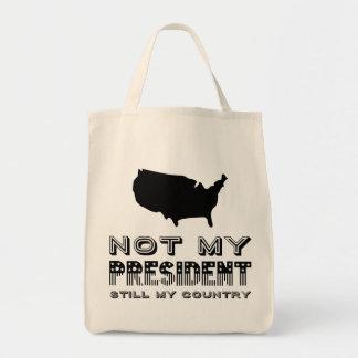 Bolsa Tote Ainda meu país não meu preto do presidente América