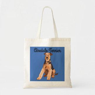 Bolsa Tote Airedale Terrier ilustrou a sacola