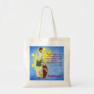 Bolsa Tote Aleluia!! Nosso salvador é sacola nascida