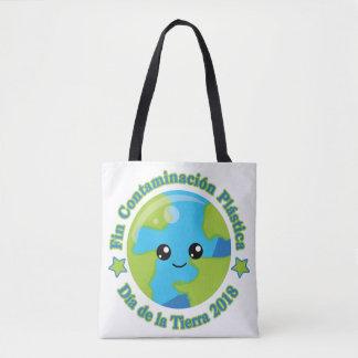Bolsa Tote Aleta Contaminación Plástica de Día de la Tierra