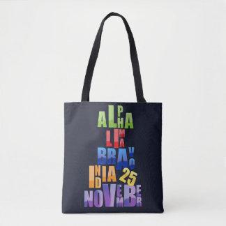 Bolsa Tote Alfabeto fonético de Albin 25