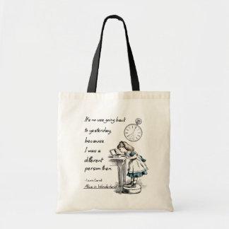 Bolsa Tote Alice em citações do país das maravilhas
