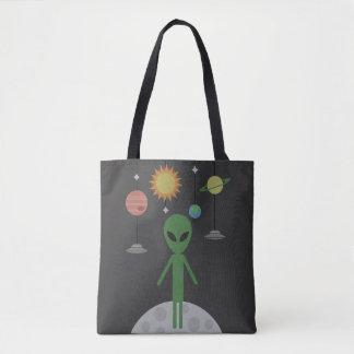 Bolsa Tote Alienígena na lua