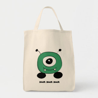Bolsa Tote Alienígena verde engraçada bonito