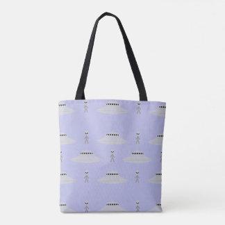 Bolsa Tote Aliens & sacola dos discos de vôo