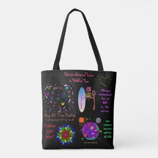 Bolsa Tote Alma do arco-íris que abraça o Auto-Amor Totebag