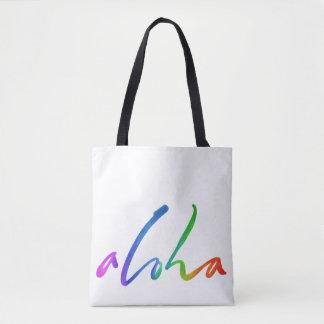 Bolsa Tote Aloha - rotulação tropical da mão - Havaí Hawai'i