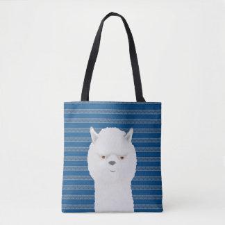 Bolsa Tote Alpaca por todo o lado na sacola