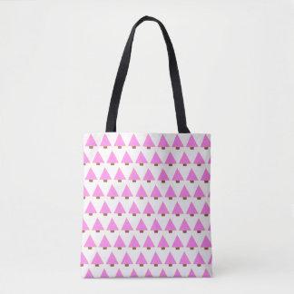 Bolsa Tote alternativo cor-de-rosa da sacola da árvore de