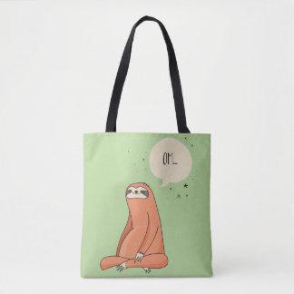 Bolsa Tote Amante engraçado da preguiça da ioga da preguiça