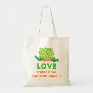 Bolsa Tote Ame seu mercado local dos fazendeiros