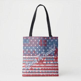 Bolsa Tote América patriótica o Dia da Independência bonito