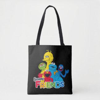 Bolsa Tote Amigos do sésamo do Sesame Street  