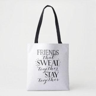 Bolsa Tote Amigos que suaram junto a sacola do gym