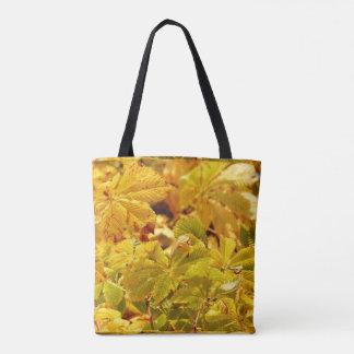 Bolsa Tote Amor amarelo da cor do outono