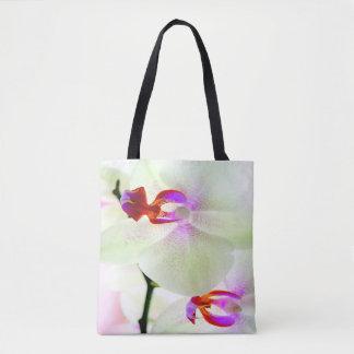 Bolsa Tote Amor branco da orquídea