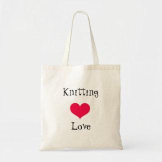 Bolsa Tote Amor de confecção de malhas