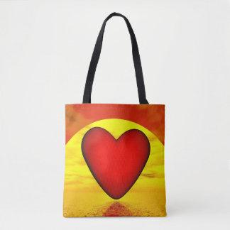 Bolsa Tote Amor pelo por do sol - 3D rendem