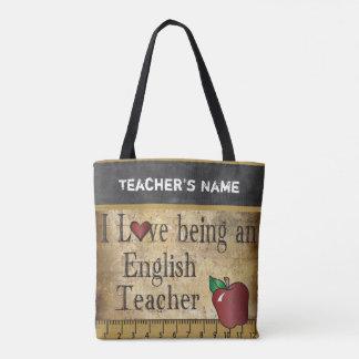 Bolsa Tote Amor que é um nome do professor de inglês | DIY