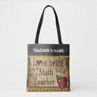 Bolsa Tote Amor que é um nome do professor de matemática  