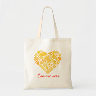 Bolsa Tote Amor verdadeiro - saco italiano da massa