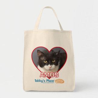 Bolsa Tote Amos - Sacola do mantimento do algodão
