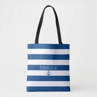 Bolsa Tote Âncora azul