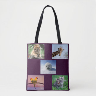 Bolsa Tote Animais bonitos