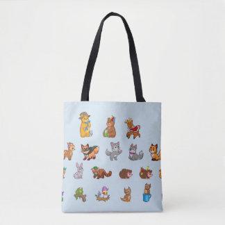 Bolsa Tote Animais bonitos do bebê da sacola