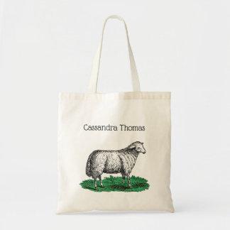 Bolsa Tote Animais de fazenda da ovelha dos carneiros do