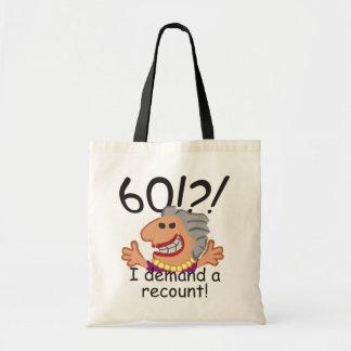 Bolsa Tote Aniversário da descrição engraçada 60th