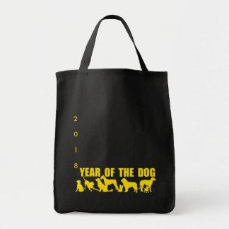 Bolsa Tote Ano chinês das silhuetas pretas G b do cão 2018