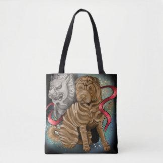 Bolsa Tote Ano chinês do zodíaco do cão