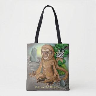 Bolsa Tote Ano chinês do zodíaco do macaco
