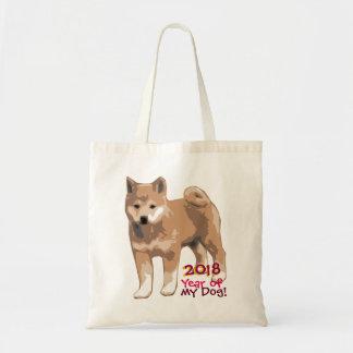 Bolsa Tote Ano do inu de Shiba de minha sacola 2018 do cão
