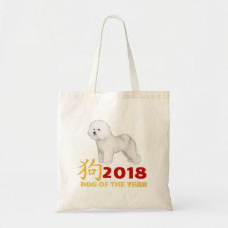 Bolsa Tote Ano novo chinês. Vencedor Bichon Frise de AKC!