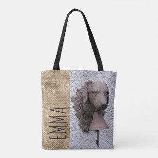Bolsa Tote Ano personalizado original 2018 do cão da sacola