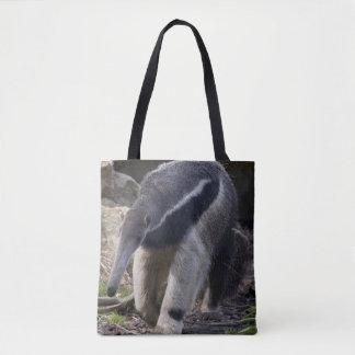 Bolsa Tote Anteater gigante por todo o lado no saco do