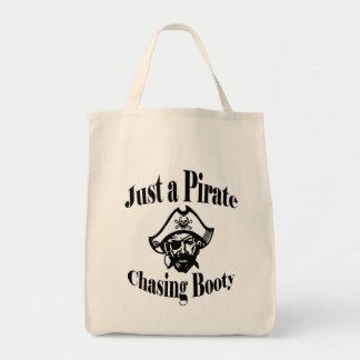 Bolsa Tote Apenas um pirata que persegue o montante