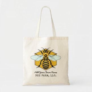 Bolsa Tote Apiary da fazenda da abelha do favo de mel da