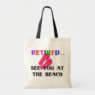 Bolsa Tote Aposentado - veja-o na praia