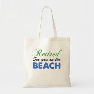 Bolsa Tote Aposentado veja-o na sacola da praia