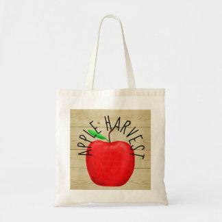 Bolsa Tote Apple vermelho colhe a sacola de madeira do sinal