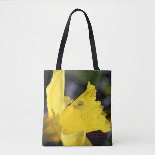 Bolsa Tote Aranha do caranguejo no Daffodil adiantado do