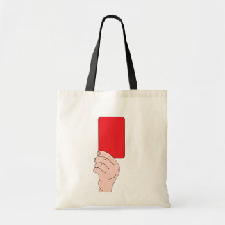 Bolsa Tote Árbitro que mostra uma sacola do cartão vermelho