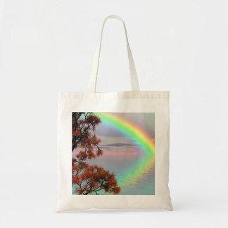 Bolsa Tote Arco-íris colorido do dobro do outono