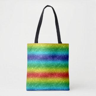 Bolsa Tote Arco-íris do brilho
