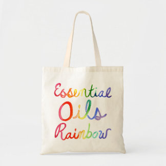 Bolsa Tote Arco-íris dos óleos essenciais