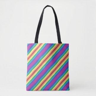 Bolsa Tote Arco-íris violeta