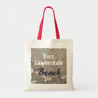 Bolsa Tote Areia da praia do Fort Lauderdale, escudos, coral